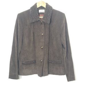 Angela Bucars| Vintage Brown Button Front Jacket